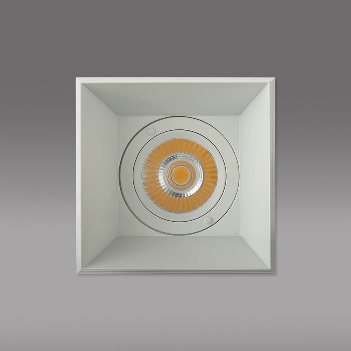 CLEARANCE Darklight Honos LED Square 12W White 25D 4000K Downlight | Image:3