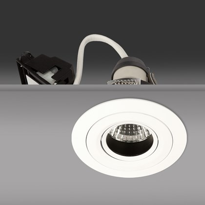 CLEARANCE Darklight Star 360 Retrofit IP44 Black Baffle Directional Downlight