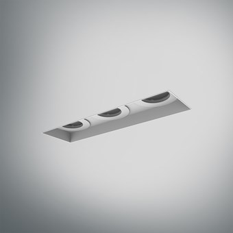DLD Eiger 3 LED IP44 Recessed Plaster In Downlight