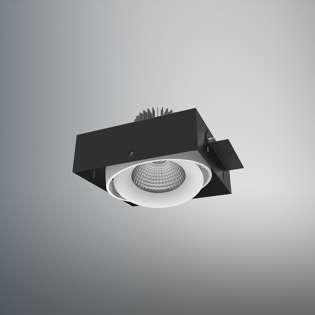 DLD Fuji Single LED Adjustable Plaster In Downlight - Next Day Delivery| Image:1