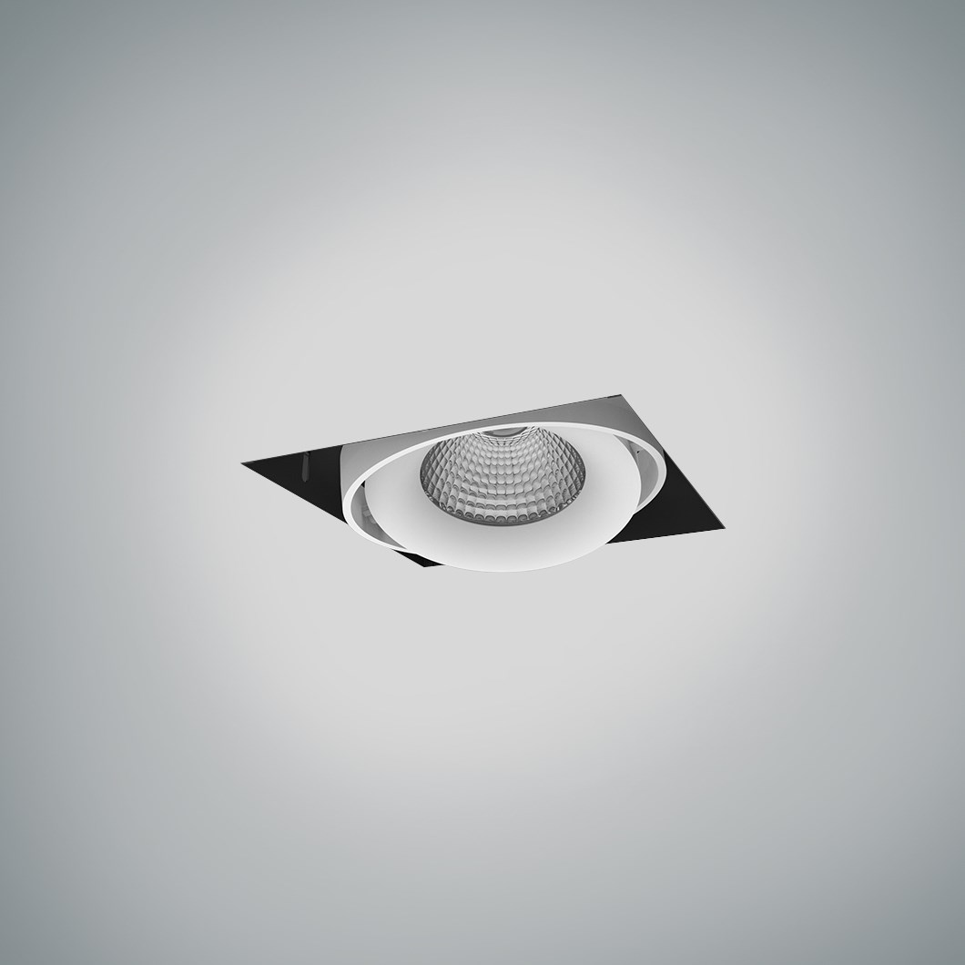 DLD Fuji Single LED Adjustable Plaster In Downlight - Next Day Delivery| Image : 1