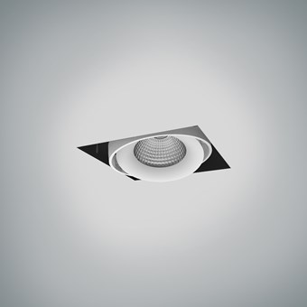 CLEARANCE DLD Fuji Single LED Adjustable Plaster In Downlight: White Bezel, 2700K, 40d Beam