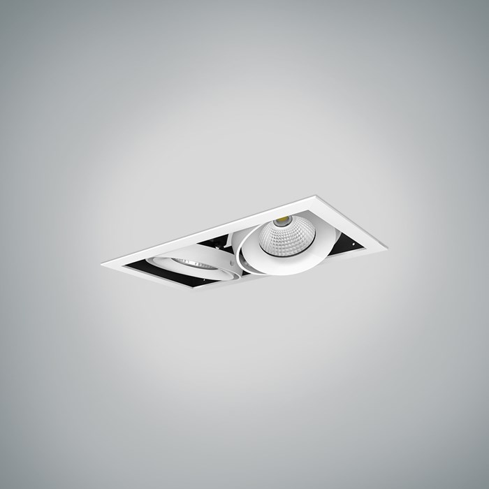 DLD Fuji Double LED Adjustable Recessed Downlight | Image:1