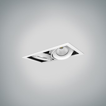 DLD Fuji Double LED Adjustable Recessed Downlight