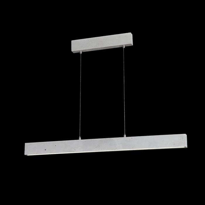 Darklight Design Cast Concrete Slimline LED Pendant| Image : 1