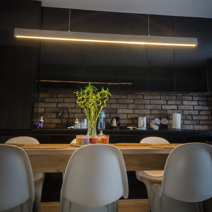 Darklight Design Cast Concrete Slimline LED Pendant| Image:1