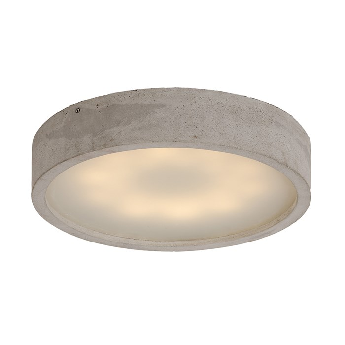 Darklight Design Cast Concrete Round LED Ceiling Light| Image : 1