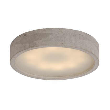 Darklight Design Cast Concrete Round LED Ceiling Light