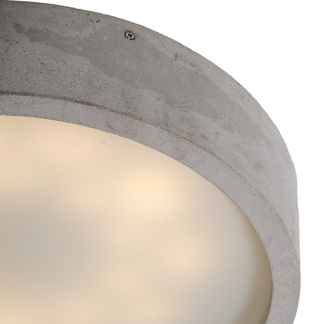 Darklight Design Cast Concrete Round LED Ceiling Light| Image:1