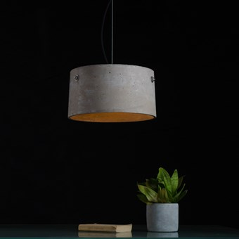 Darklight Design Rivet Concrete Round Pendant