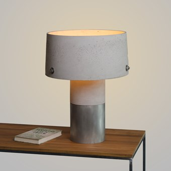 Darklight Design Rivet Concrete Round Table Lamp
