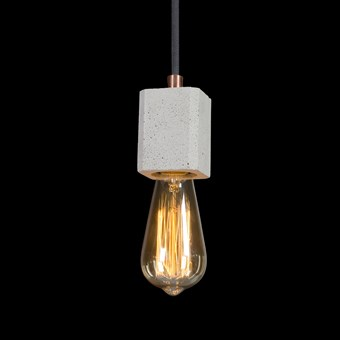 Darklight Design Edison Concrete Square Pendant