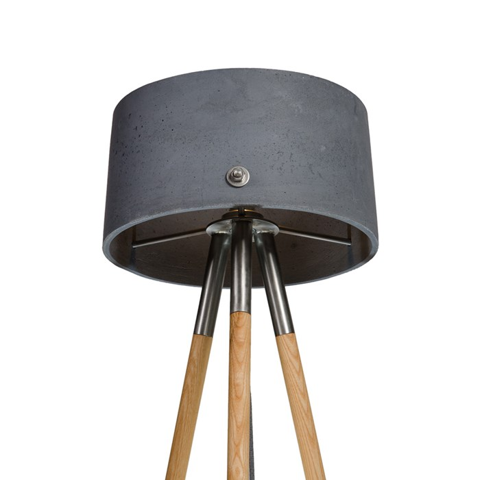 Darklight Design Rivet Concrete Round Floor Lamp| Image:1