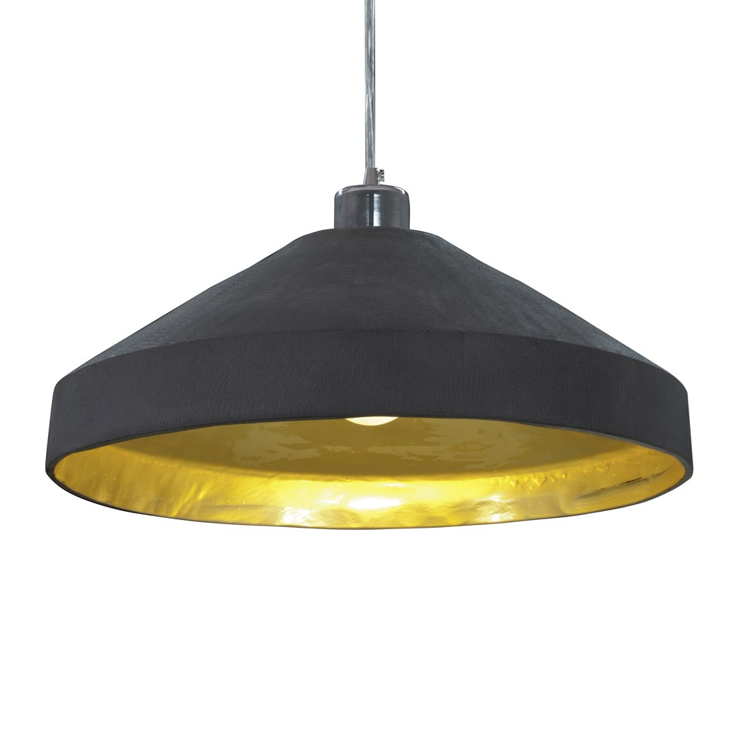 Darklight Design Slate Gold Flat Pendant Next Day Delivery