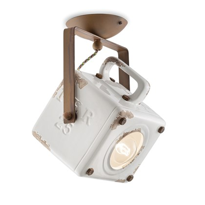 Ferroluce Retro Industrial C1653 Ceiling Light