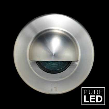 Hunza Pure LED Euro Step Lite Seamless Eyelid Exterior IP66 Wall Light