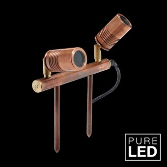 Hunza Pure LED Euro Twin Bar Lite Exterior IP66 Spike Spot Light