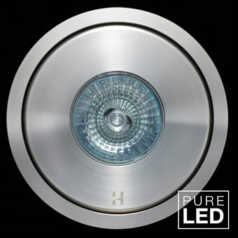 Hunza Pure LED Flush Floor Lite Round Exterior In-Ground Recessed IP66 Uplight