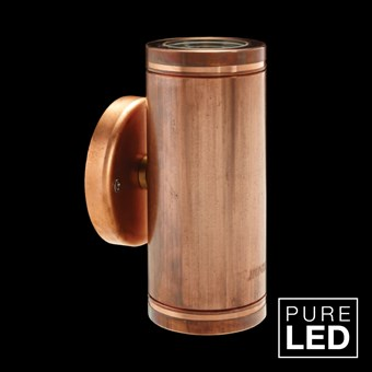 Hunza Pure LED Pillar Lite Exterior IP66 Wall Light
