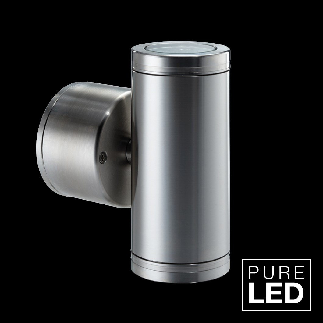 Hunza Pure LED Pillar Lite Retro Exterior IP66 Wall Light| Image : 1