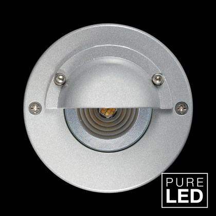 Hunza Pure LED Step Lite Eyelid Round Exterior IP66 Low Level Light