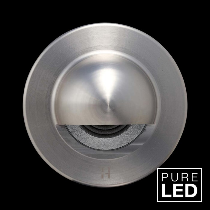 Hunza Pure LED Step Lite Solid Eyelid Round Exterior IP66 Low Level Light| Image : 1