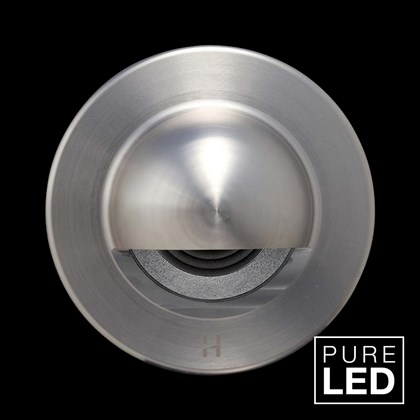 Hunza Pure LED Step Lite Solid Eyelid Round Exterior IP66 Low Level Light