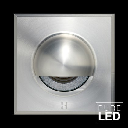 Hunza Pure LED Step Lite Solid Eyelid Square Exterior IP66 Low Level Light