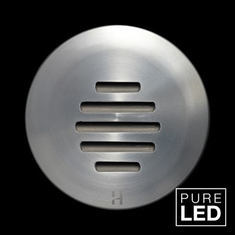 Hunza Pure LED Step Lite Louvre Round Exterior IP66 Low Level Light