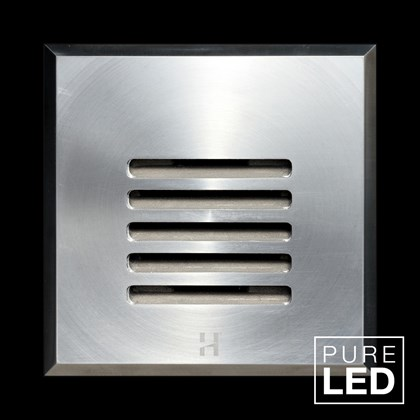 Hunza Pure LED Step Lite Louvre Square Exterior IP66 Low Level Light