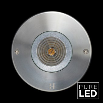 Hunza Pure LED Step Lite Round Exterior IP66 Low Level Light