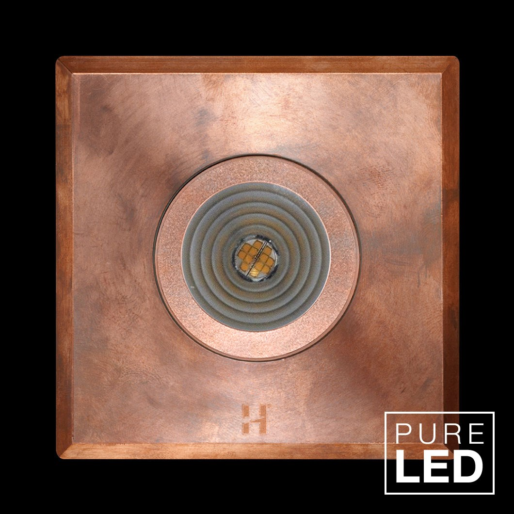 Hunza Pure LED Step Lite Square Exterior IP66 Low Level Light | Image:1