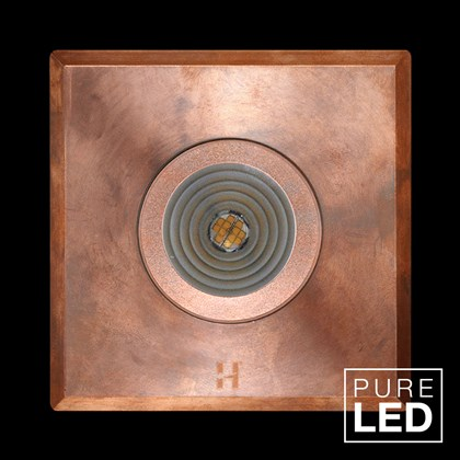 Hunza Pure LED Step Lite Square Exterior IP66 Low Level Light