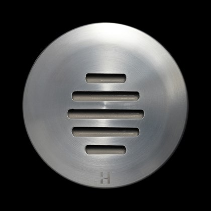 Hunza Step Lite Louvre Round Exterior IP68 Low Level Light
