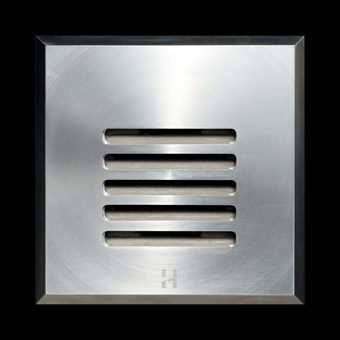 Hunza Step Lite Louvre Square Exterior IP68 Low Level Light