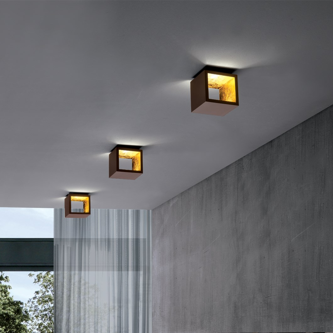 Icone Cubo Wall Ceiling Light Darklight Design Lighting