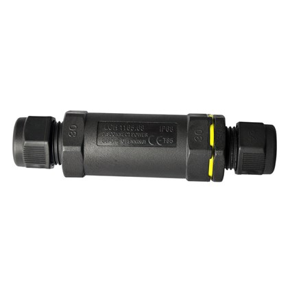 DLD IP68 Straight Exterior Connector Long 3 Pole