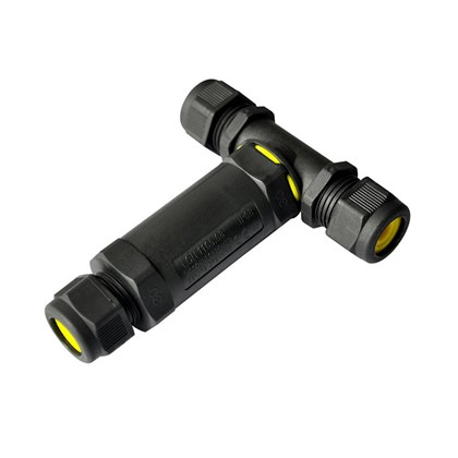 DLD IP68 T-Fitting Exterior Connector Long 3 Pole