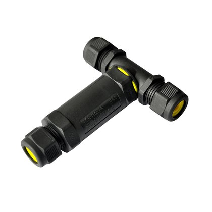 DLD IP68 T-Fitting Exterior Connector Long 5 Pole