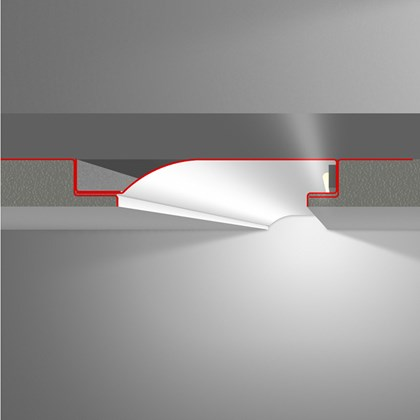 LED Profilelement R10-F Plaster Profile