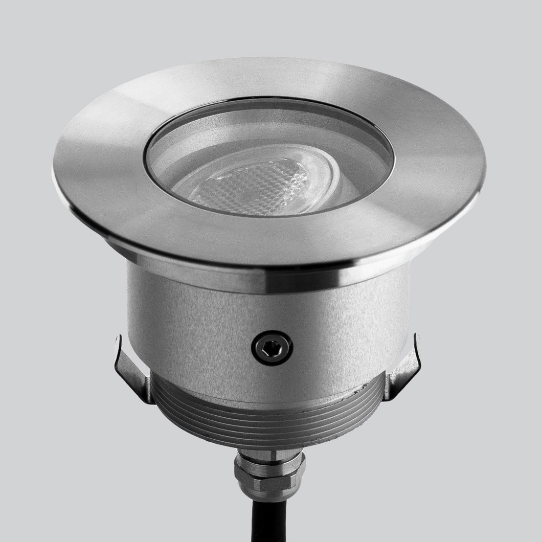 LLD Agon Round Adjustable Outdoor IP67 LED Recessed Floor Uplight | Image:1