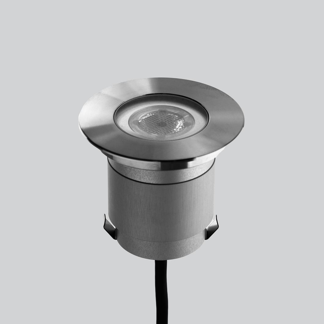 Lld Agon Round 230v Outdoor Ip67 Led Recessed Floor Uplight Darklight Design Lighting Design Supply