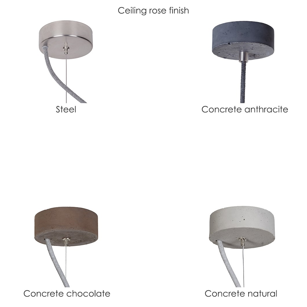 Darklight Design Rivet Concrete Round Pendant| Image:1