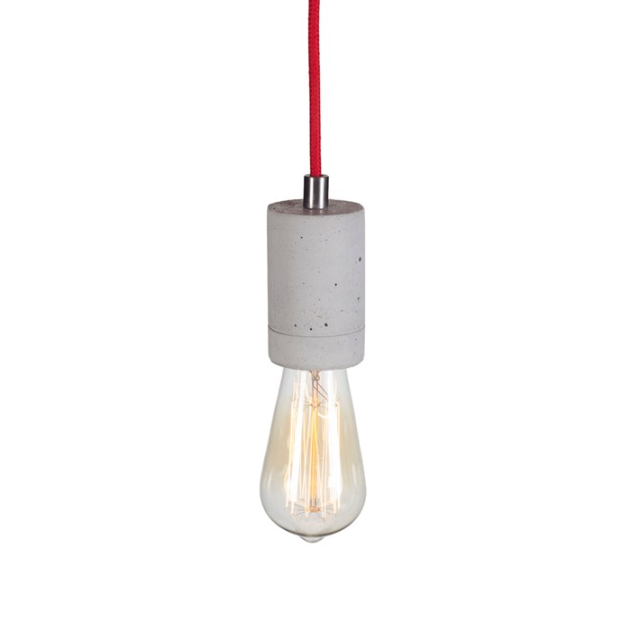 Darklight Design Edison Concrete Pendant| Image:1