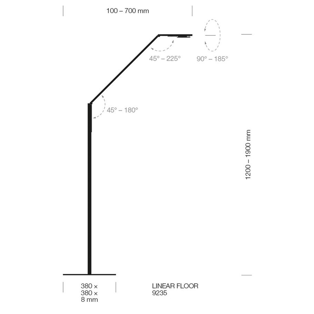 Luctra Linear Human Centric LED Floor Lamp | Image:4