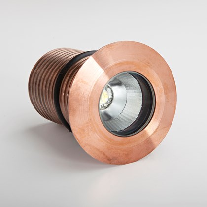 LuxR LED Modux 4 Round Recessed Exterior IP68 Uplight