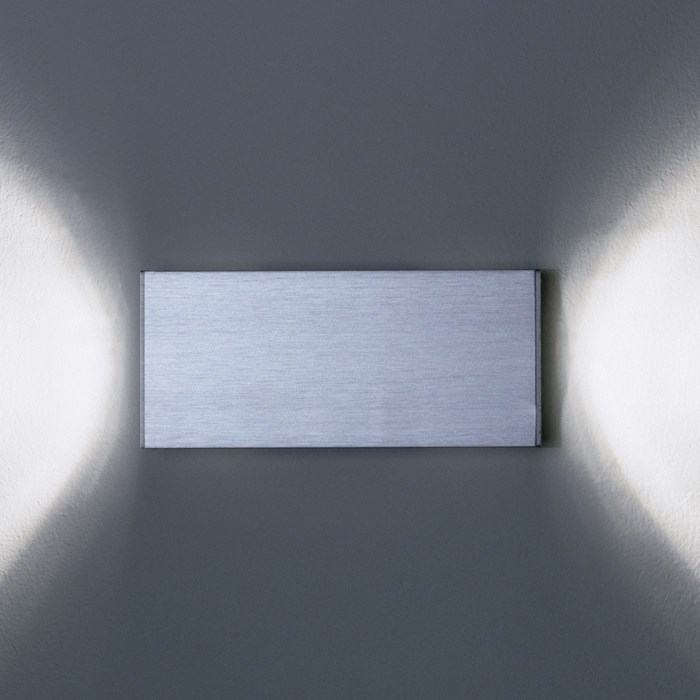 CLEARANCE Milan Iluminacion Dau Doble Aluminium Wall Light| Image:1