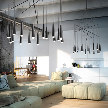 Morosini Mikado 18 Drop LED Pendant