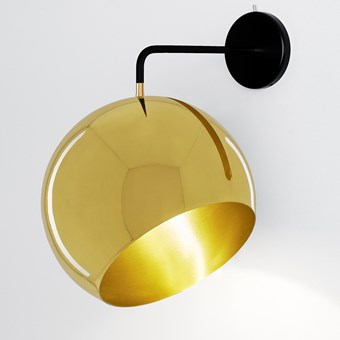 Nyta Tilt Globe Brass Wall Light