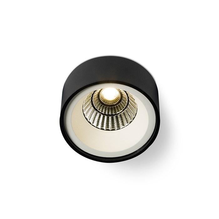 Round Recessed Ceiling Light: Orbit Border Cone Round LED Semi Recessed Ceiling Light